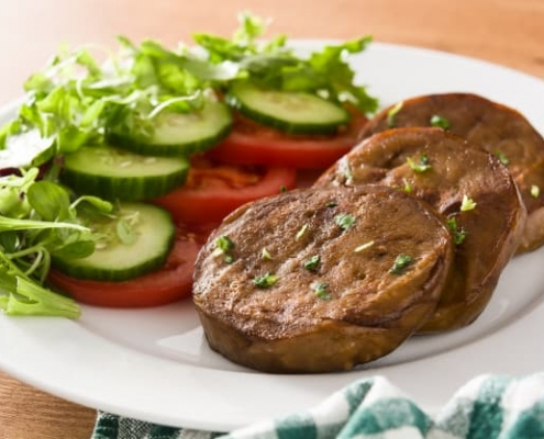 Seitan con verdure per dieta vegana per atleti e sportivi